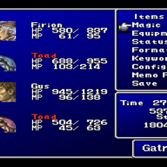 Toad in menu (PSX)
