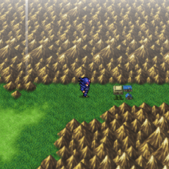 Mist on the world map (PSP).