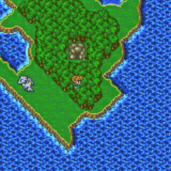 Ghido's Cave on the World Map in Galuf's World (GBA).