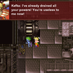 Kefka dumping Shiva and Ifrit (iOS/Android/PC).