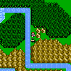 Replito on the world map (NES).