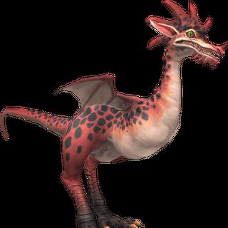 A ruby raptor.