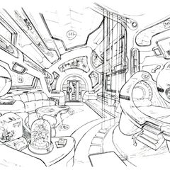 Concept art of Ellone's suite.