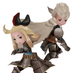 Edea and Ringabel as Knights in <i><a href=