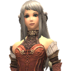 Arciela's in-game model, with her hair down.