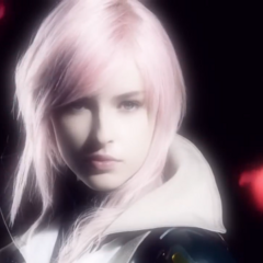 Lightning portrayed by an actress in a commercial for <i>Lightning Returns</i>.