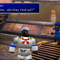 Barret wearing a sailor suit.