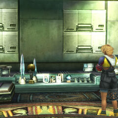 Tidus and his trophies.