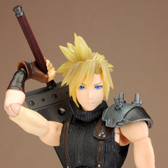 Cloud's <i>Dissidia</i> Play Arts Kai figure.