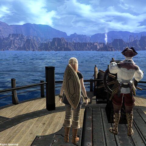 Ferry arriving Ul'dah.