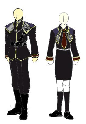 SeeD Uniform, Male and Female.