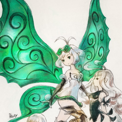 Artwork of all three Cryst-fairies.