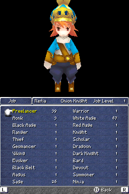 Job selection in Final Fantasy III DS.png