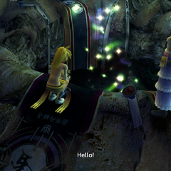 A hole in the Cavern of the Stolen Fayth's Chamber of the Fayth in <i>Final Fantasy X-2</i>.
