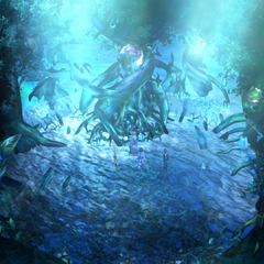 Macalania spring in <i>Final Fantasy X-2</i>.