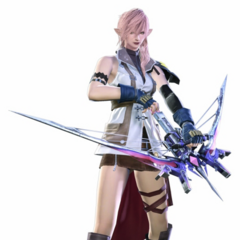 Render of Lightning costume with the Starseeker.