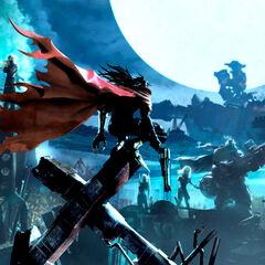 <i>Dirge of Cerberus</i> promotional artwork bears allusion to Vincent's original <i>Final Fantasy VII</i> promo poster.