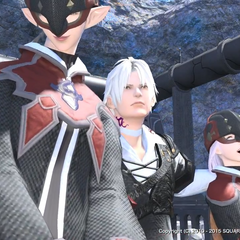 Thancred having fun with imperial girls.