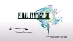 FFXIII Demo