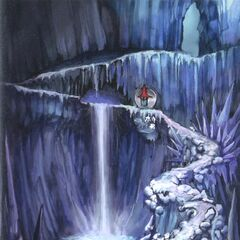 Artwork of a Black Waltz in the Ice Cavern.