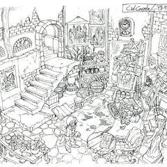 Lindblum Theater District Artist Michael's Studio.