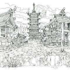 Town concept art.