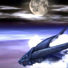 Bahamut flying.