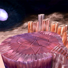 The depths of the Crystal World where Trance Kuja is fought.