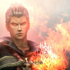 Zhuyu's l'Cie brand as he faces Nimbus (PSP).
