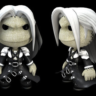 Sackboy's unreleased Sephiroth costume for <i>LittleBigPlanet</i>.