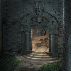 Alexandria Castle's west tower gate.