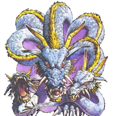 Artwork of Tiamat for <i>Nintendo Power</i>.