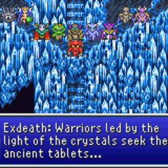 Exdeath commands the Demons to destroy the party.