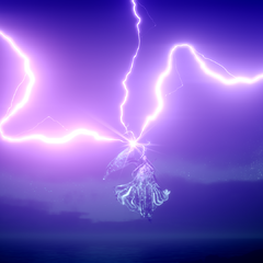 Ramuh appears from the clouds.