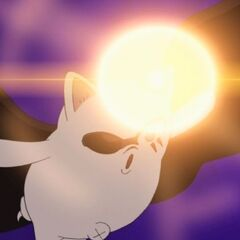 Moogle powers up the Magun.