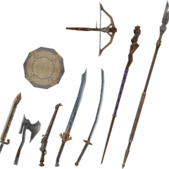 Vaan's weapons.