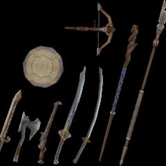 Vaan's weapons.