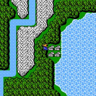 Onrac on the World Map (NES).