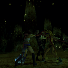 Yuna, Rikku, and Paine are turned against each other.