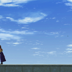 Yuna whistles on the Luca docks.