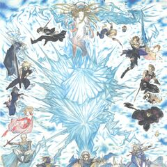 Squall in the 25th Anniversary Poster of <i>Final Fantasy</i>.