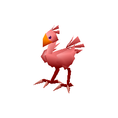 Red chocobo.