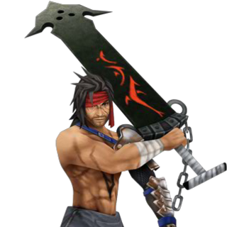 Jecht's alternate outfit in <i>Dissidia 012</i>, based on his <i>Final Fantasy X</i> design.