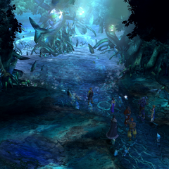 Macalania spring in <i>Final Fantasy X</i>.