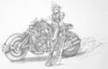 Cloud Motocycle Sketch
