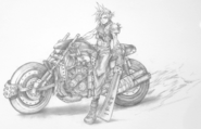 Cloud Motocycle Sketch