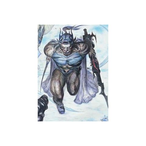 Detail of Guy from Yoshitaka Amano's <i>Final Fantasy II</i> <a href=