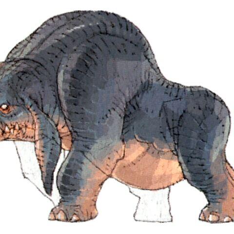 Concept art of the buffalo.