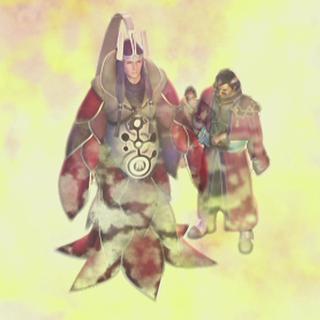 Braska, Auron, and Jecht in the ending.