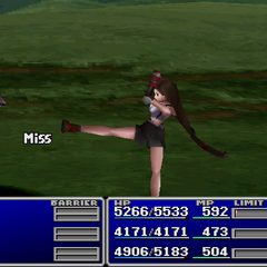 Tifa using Deathblow.